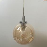 Amber lamp Shade/hand blown glass ball