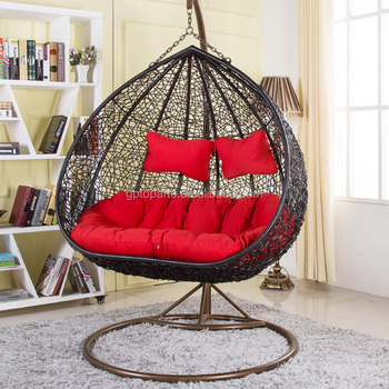 Wicker Hanging Swing Egg Chair Rattan In Outdoor Pod Double