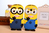 3D Cute Cartoon Soft Silicon Minion Phone Case For samsung galaxy s5 mini For Minion s5 mini Case