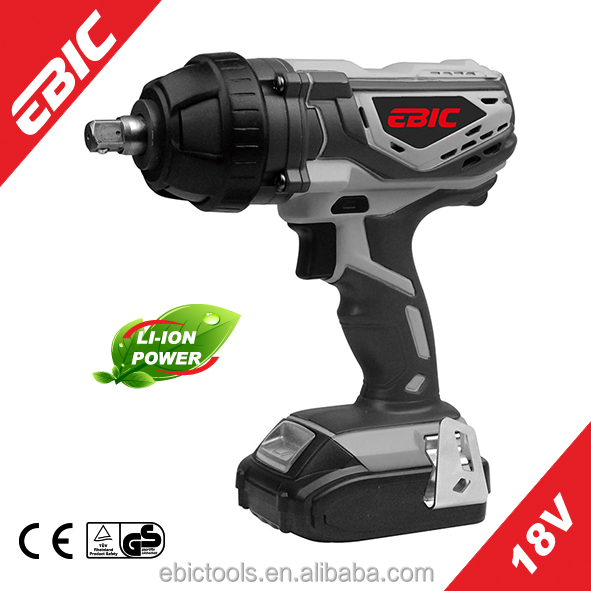 18V Li-ion electric cordless impact ratchet wrench