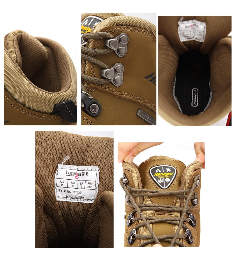 grain leather shoes ODM OEM order tex full hiking king nubuck wxIX14O