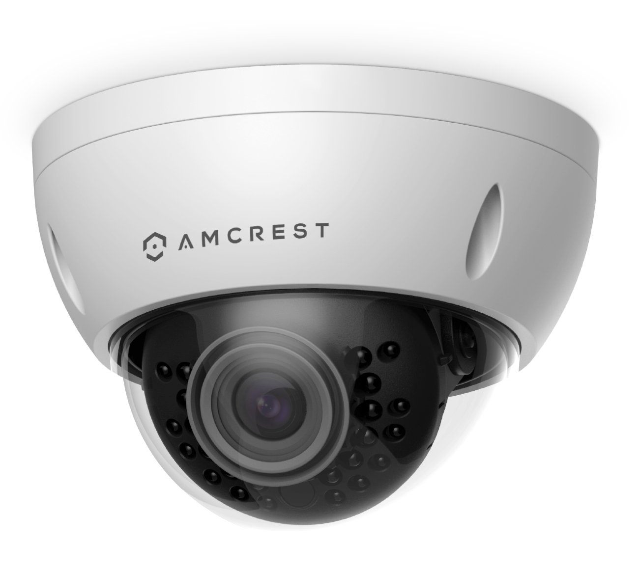 Amcrest ProHD Outdoor 3 Megapixel POE Vandal Dome IP Security Camera - IP67 Weatherproof, IK10 Vandal-Proof, 3MP (2048 TVL), IP3M-956E (White)