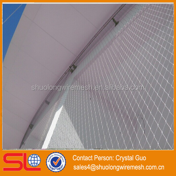 Hebei factory Stainless Steel 316 Ferrule Rope Mesh,clip Cable Netting