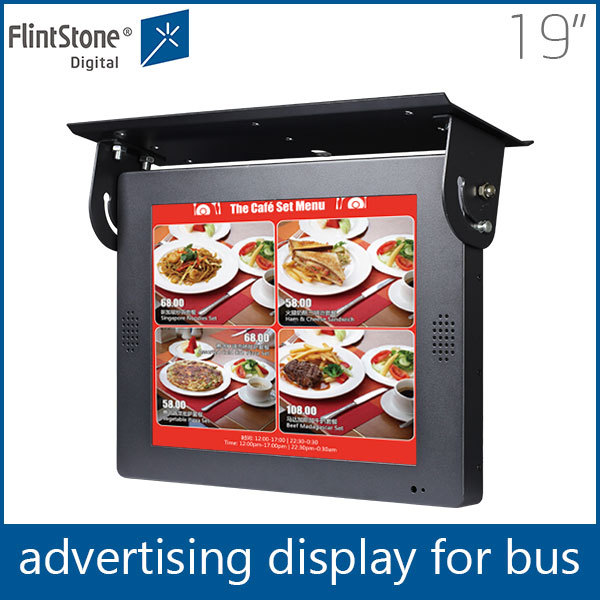 FlintStone 19 inch wall mount or ceiling mount option lcd cab car taxi advertising screen