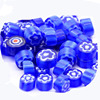 thickness 4mm murano glass mixed millefiori slice beads with many style designs