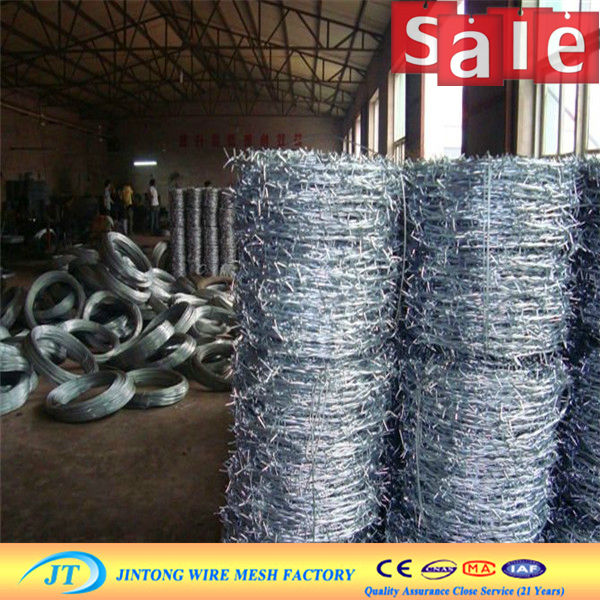 High Carbon 1.6mm Security Barbed Fence / Spiral Barbed Wire - Buy ...
