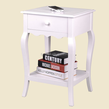 Rustic French Country White Painted Shabby Chic Furniture Nightstand