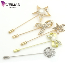 Muslim Scarf Hijab Pins Bling Magnetic Brooch Pin for Women