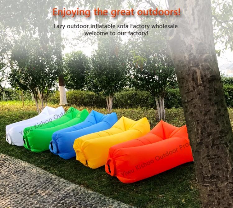 popular new product custom logo inflatable sleeping bagair lazy bag