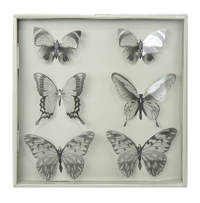 Transparent 3D Butterfly Decal Mirror Effect Room Decor Wall Stickers Part 90