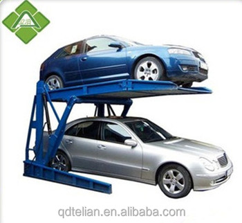 car storage hydraulic column hoist tilt car parking lifter