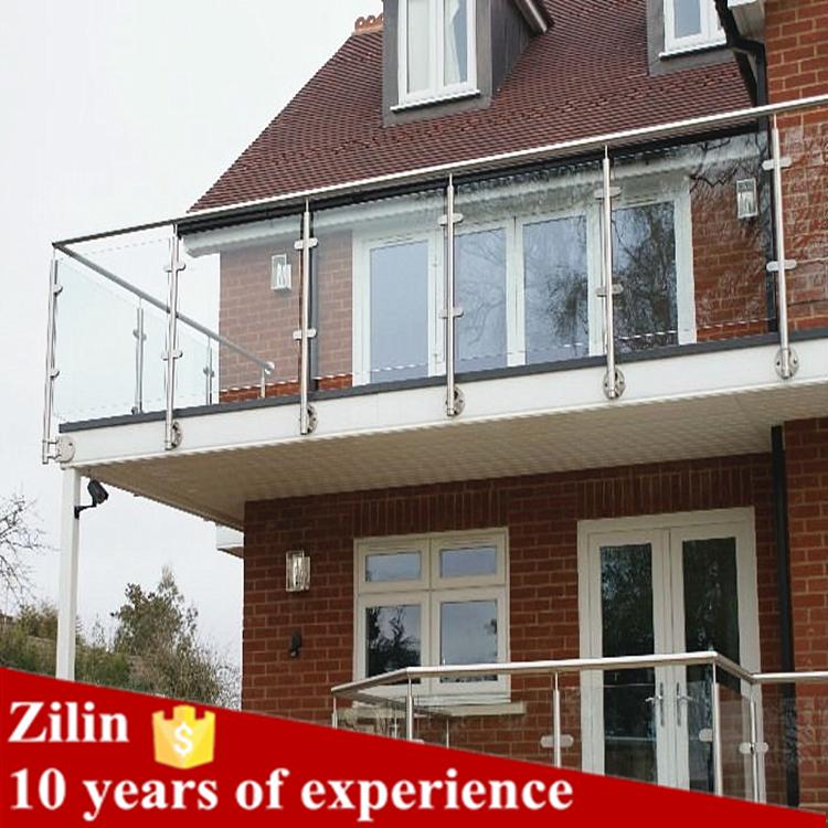 Stalen raam balkon glazen balustrade klem ontwerpen india for Terrace tubular design