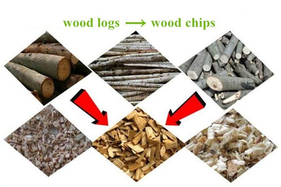 Wood chips made by wood chipper4 (2)_