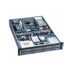 "Dynapower EJ-2U6510-C Black Heavy Duty Steel 2U Rackmount Server Case 32.5"" Deep Slim CDROM 1x3.5"" Slim FDD 8xSwappable (IDE/PATA/SATA/SCSI320) 2x2.5"" 4x8cm Heavy Duty Ball Bearing Fans Support Max 12""x13"" M/B (DynapowerEJ-2U6510-C )"