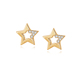 GZA2-053C dinky earring 18K gold plated 925 sterling silver jewelry dandyish