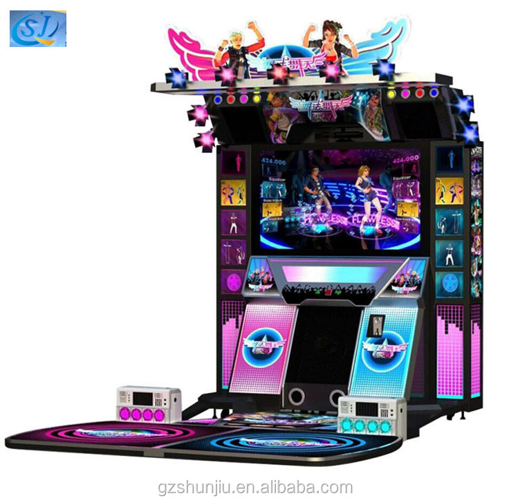 Hot sale two players Dance Central 3 arcade dancing game machine for young people amusement machine