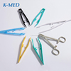 Disposable Medical different types of colorful Clamp plastic forceps