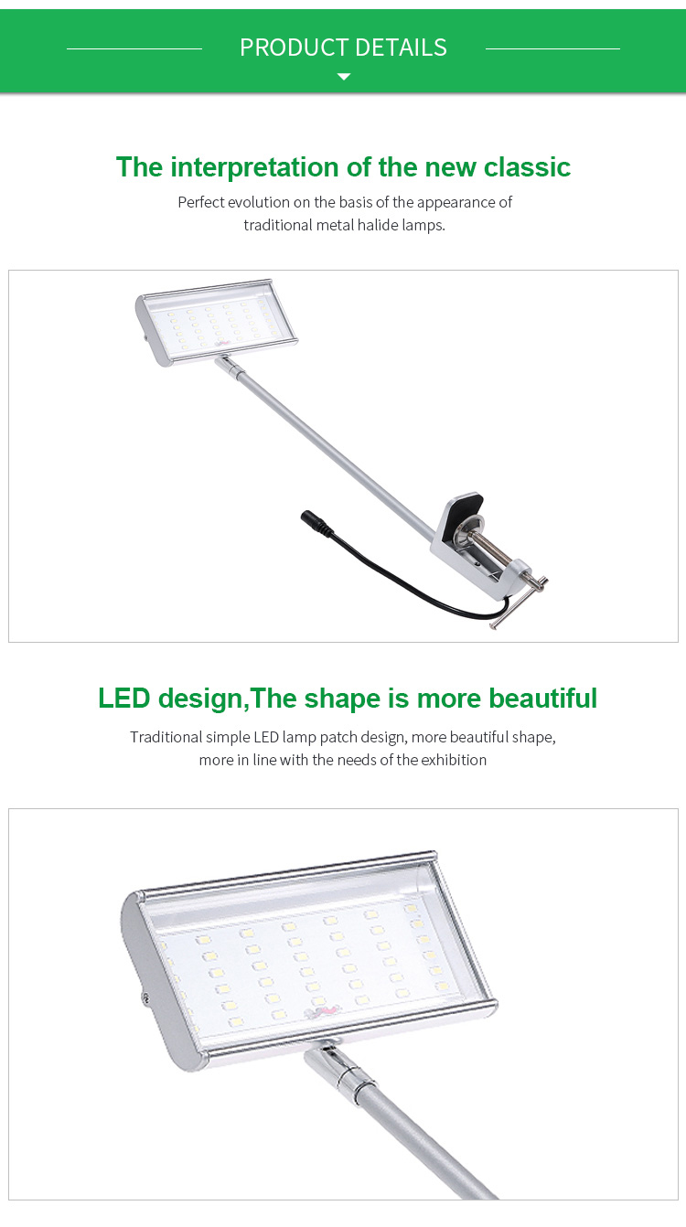 SLT 24W 1800LM Long Arm Exhibition Light for Trade Show Booth