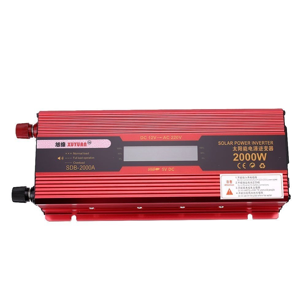 Cheap High Frequency Inverter Circuit Diagram Find 12v Wiring Get Quotations Automotive Power 2000w Solar Adapter Led Display
