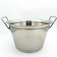 High quantity Large capacity hotel and restaurant conical colander Stainless Steel Mesh Colander