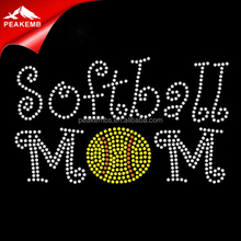Softball Rhinestone Iron On Decals Heat Transfers Accessories For Garment