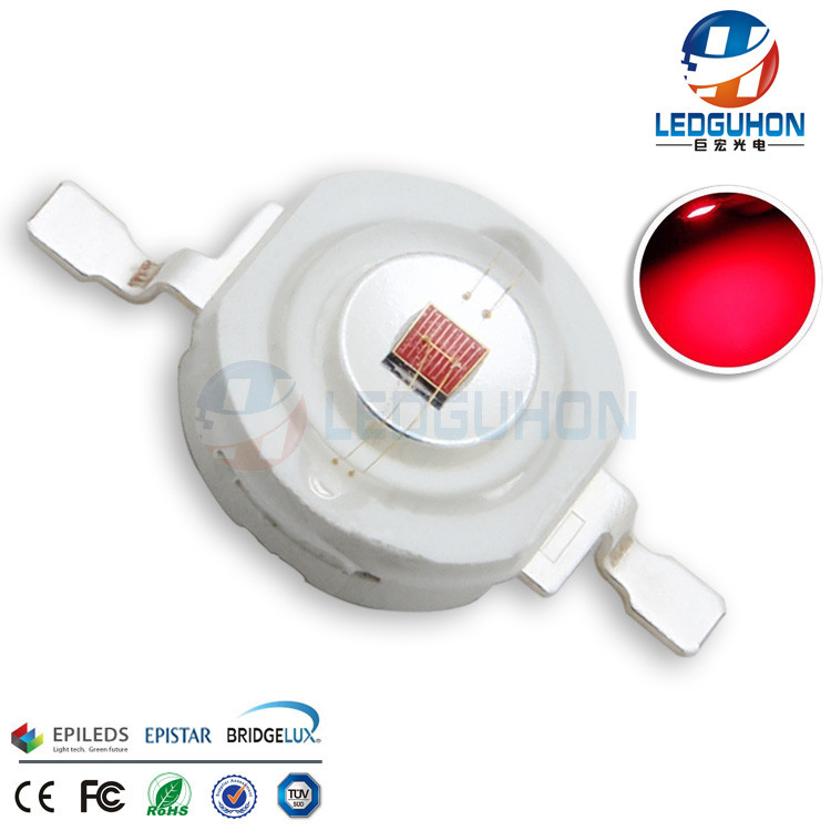Surface Mount Package Red Color 3W High Power LED Lamp For Swimming Pool Light Use