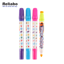 Reliabo Super September Bulk Kopen Double Ended Stempel Water Kleur <span class=keywords><strong>Marker</strong></span> Voor Kids DIY
