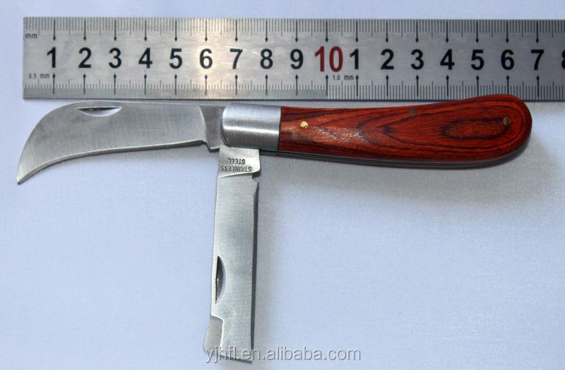 Professional Knife Factory 3inch Blade Knife Wood Handle Pocket ...