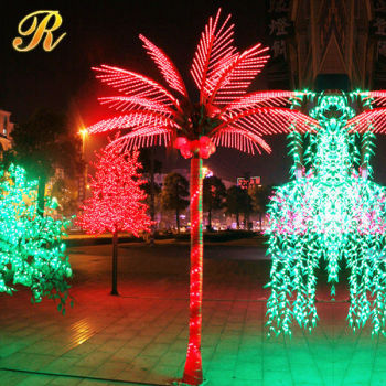 commercial led decorations rope light palm tree