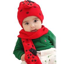 Úžasna detská čiapka a šála s motivom lienky