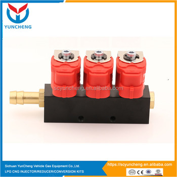 Yuncheng new arrival lpg injector rail cho gas kit