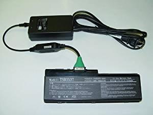 External laptop battery charger compatible with PA3537U-1BRS/ PA3537U-1BAS/ PA3536U-1BRS/ PABAS100/ PABAS101/ Toshiba Satellite P200/ P200D/ P205/ P205D/ L305/ Pro P200/ X200/ X205 series rating 11.1V laptop batteries.