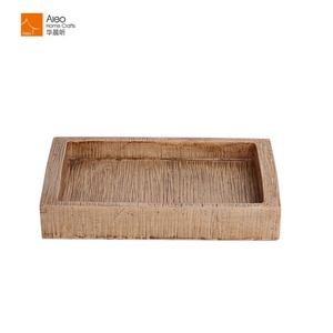 Eco-friendly Handmade Square Wooden Color Soap Dish for Bathroom