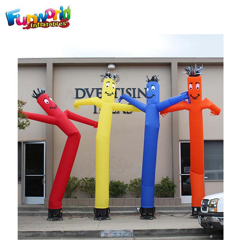Advertising fabric for sky dancer usb inflatable mini small air dancer