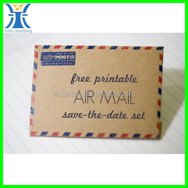 Yiwu New Arrived Popular Durable Decorative Kraft paper airmail envelope