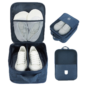 Compartment Travel Bag Hanging Shoe Packing Household Zipper Organizer Poly Fabric Material and Storage Use Travel Shoe Bag