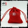 Different colour reuseable jewellery packaging pouch, cheap drawstring bags, envelope jewelry bag