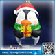 Santa Claus Christmas penguin snow globe