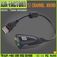 OEM/ODMBest Quality Storite 2.0 USB Sound 5hv2 USB 7.1 Sound 12 Channel Sound Card Adapter with Line
