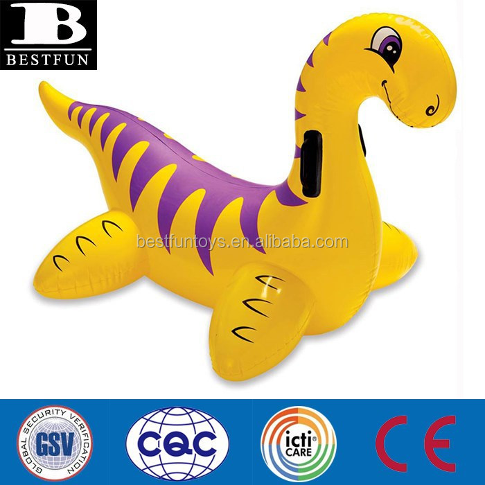 product detail large inflatable dinosaur ride on swimming pool lake float seat water games toys for adult and kids