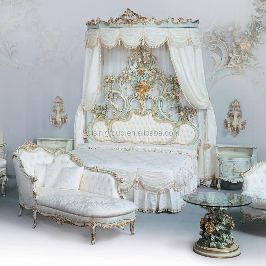 Letti Classici Di Lusso.Reale Di Lusso Carving Bene Rococo Ornato Riproduzione Trapuntato