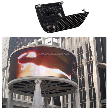 best price p4 p5 p6 p10 p12 small led screen display indoor Shape Curved Flexible flexible led display