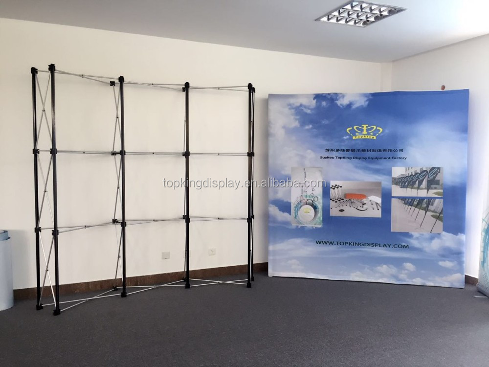 Display Fabric Folding Pop Up Backdrop floor Booth stand