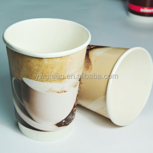 double layer paper cup 36oz straw tumbler paper insert double cup