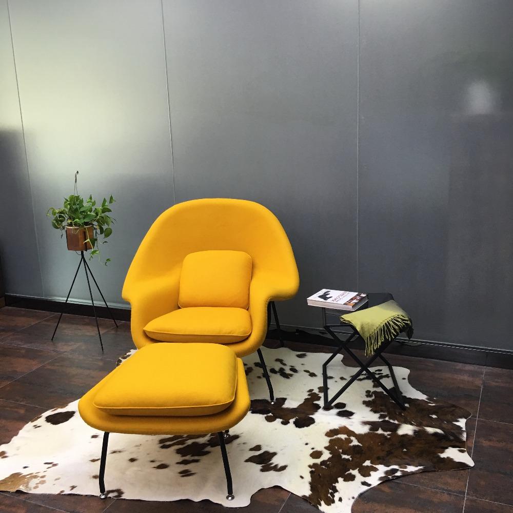 Wohnzimmer stuhl mit ottomane m belideen for Hay stuhl replica