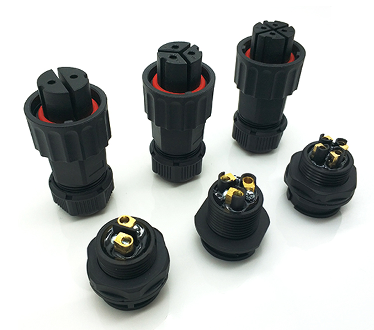 IP67/65 Bayonet crimp plug socket 2 pin connector