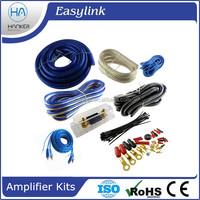 Blue 4 Gauge Ga 2500W Car Amplifier Amp Complete Wiring