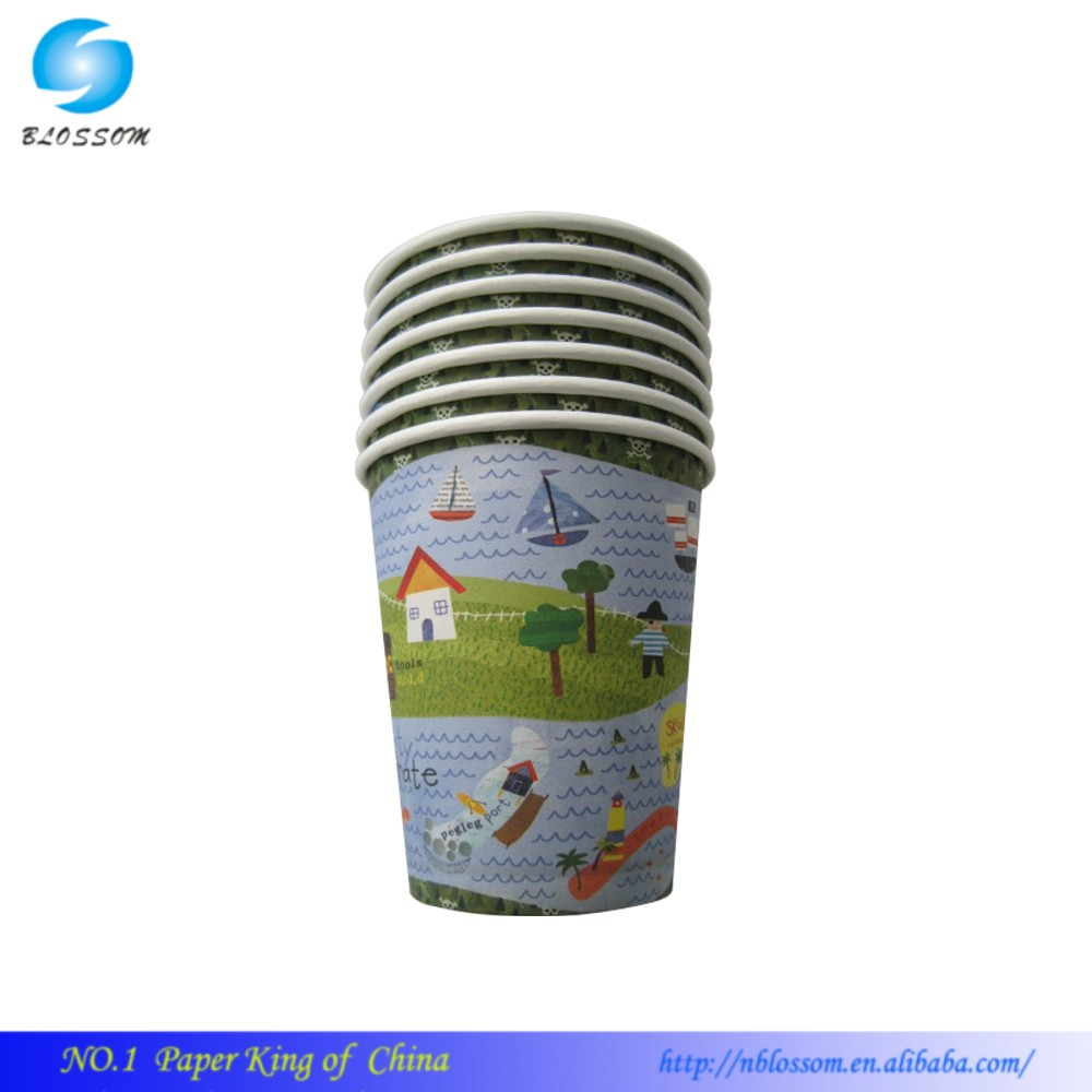 shaped 9 OZ paper cup price Christmas Eco Disposable Dinner paper cup