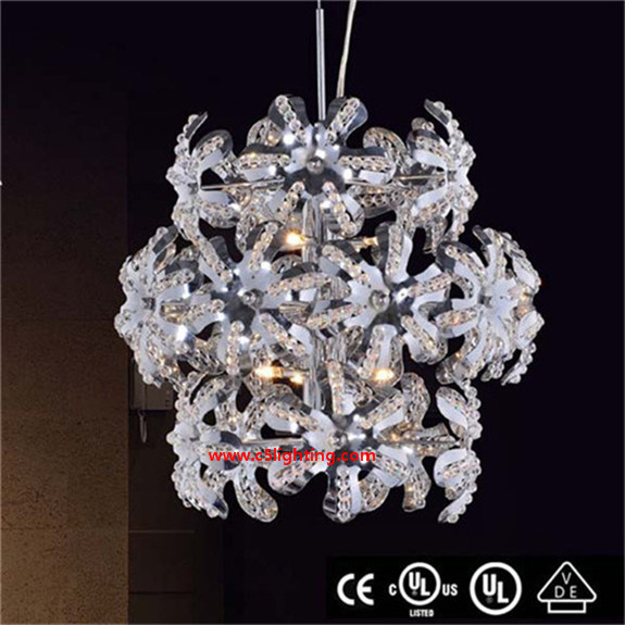 New design Customized crystal pendant lights best power bank pineng