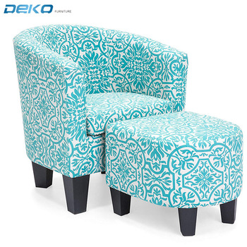 Prime Modern Upholstered Accent Chair With Ottoman Footrest Set Buy Accent Tub Chair Pattern Print Fabric W Ottoman Modern Stylish Round Armrest Sofa Alphanode Cool Chair Designs And Ideas Alphanodeonline